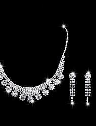 Недорогие -Жен. Классический Комплект ювелирных изделий Милая, Мода, Элегантный стиль Включают Цепочка Серебряный Назначение Свадьба Для вечеринок