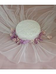 Недорогие -Ткань Головные уборы с Цветы 1 шт. Свадьба / Особые случаи Заставка