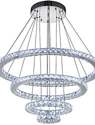 Недорогие -Круглый Подвесные лампы Рассеянное освещение Электропокрытие Металл Хрусталь, LED 110-120Вольт / 220-240Вольт Холодный белый Светодиодный источник света в комплекте / Интегрированный светодиод