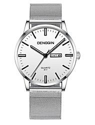 Недорогие -Муж. Наручные часы Кварцевый Черный / Серебристый металл 30 m Защита от влаги Календарь Фосфоресцирующий Аналоговый На каждый день Мода -  / Один год