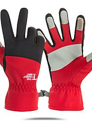 Недорогие -Спортивные перчатки / Зимние / Лыжные перчатки Муж. / Жен. Полный палец С защитой от ветра / Водонепроницаемость / Сохраняет тепло Акрил / хлопок / Тканый хлопок