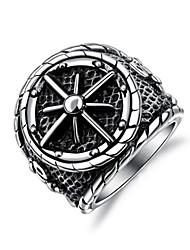 billige -Herre Skulptur Band Ring Statement Ring Ring - Titanium Stål Anker Stilfuld, Klassisk, Punk 7 / 8 / 9 / 10 / 11 Sølv Til Gade Natklub