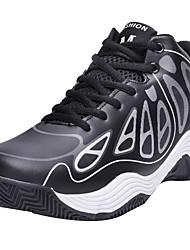 baratos -Homens Sapatos Confortáveis Couro Ecológico Outono Esportivo Tênis Basquete Não escorregar Estampa Colorida Preto / Amarelo / Vermelho