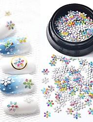 billige -1 pcs Glitter Pailletter Klassisk / Slankt design Tegneserie Serie Sneflage Negle kunst Manicure Pedicure Jul / Daglig Basale / Natur