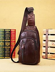 Недорогие -мужские сумки наппа кожаный ремешок плеча сумка молния кофе