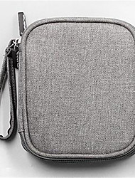 baratos -Tecido Oxford Bagagem / Mala de Mão Ziper Preto / Cinzento Claro