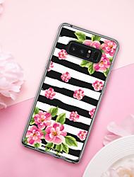 billige -Etui Til Samsung Galaxy Note 8 Stødsikker / Belægning / Mønster Bagcover Frugt / Blomst Blødt TPU / PC for Note 8