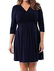 Недорогие -Жен. С летящей юбкой Платье - Однотонный Выше колена