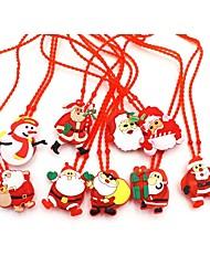 Недорогие -1pc дети привели светящиеся ожерелья игрушки светящиеся рождественские серии рождественские украшения осень мигающие подвесные украшения ребенка ожерелье игрушки подарки случайные