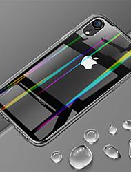 Недорогие -Кейс для Назначение Apple iPhone XR / iPhone XS Max Ультратонкий / Прозрачный Кейс на заднюю панель Однотонный Твердый Закаленное стекло для iPhone XS / iPhone XR / iPhone XS Max