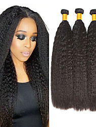 Недорогие -3 Связки Малазийские волосы Вытянутые 8A Натуральные волосы Необработанные натуральные волосы Подарки Человека ткет Волосы Пучок волос 8-28 дюймовый Естественный цвет Ткет человеческих волос
