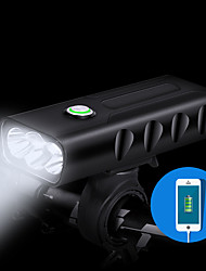 Недорогие -Передняя фара для велосипеда Светодиодная лампа Велосипедные фары Велоспорт Водонепроницаемый, Быстросъемный, Прочный Литий-ионная аккумуляторная батарея 1000 lm Белый