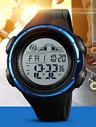 baratos -SKMEI Homens Casal Relogio digital Digital 50 m Impermeável Calendário Cronômetro PU Banda Digital Casual Fashion Preta / Azul / Verde Trevo - Preto Verde Azul