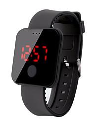 Недорогие -Муж. электронные часы Цифровой Pезина Черный / Белый / Синий 30 m Защита от влаги ЖК экран Цифровой Мода Цветной - Красный Зеленый Синий