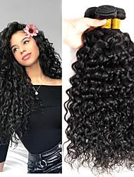 voordelige -4 bundels Watergolf 8A Echt haar Niet verwerkt Menselijk Haar Menselijk haar weeft Verlenging Bundle Hair 8-28 inch(es) Natuurlijke Kleur Menselijk haar weeft Zacht Klassiek nieuwe collectie