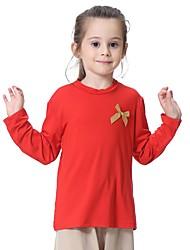 tanie -Dzieci Dla dziewczynek Solidne kolory Długi rękaw T-shirt
