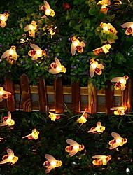 Недорогие -5 метров Гирлянды 20 светодиоды Тёплый белый Декоративная Солнечная энергия 1 комплект
