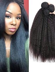 voordelige -3 bundels YakiRecht 8A Echt haar Niet verwerkt Menselijk Haar Menselijk haar weeft Bundle Hair Een Pack Solution 8-28 inch(es) Natuurlijke Kleur Menselijk haar weeft Pasgeboren Cosplay Gemakkelijke