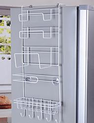 baratos -Organização de cozinha Prateleiras e Suportes Alumínio Armazenamento 1conjunto