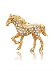 abordables -Femme Diamant Corde Broche - Cheval Artistique, Asiatique, simple Broche Or Pour Soirée / Valentin