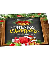 Недорогие -Коврики Рождество 100 г / м2 полиэфирный стреч-трикотаж, Квадратная Высшее качество плед
