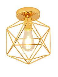 Недорогие -современный стиль гальванизированный геометрический узор дизайн металлическая клетка потолочный светильник ресторан кафе флеш-светильник светлый светильник для спальни