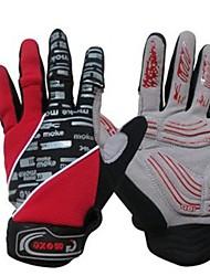 Недорогие -Спортивные перчатки Перчатки для велосипедистов Горные велосипеды Дышащий Сохраняет тепло Нескользящий Полный палец Холодная погода Зима Поли уретан Велосипедный спорт / Велоспорт Универсальные