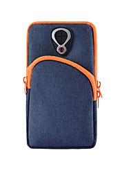 baratos -Unisexo Bolsas Tecido Oxford Telefone Móvel Bag Ziper Côr Sólida Azul Escuro / Cinzento / Azul Céu