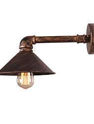 Недорогие -винтажные промышленные трубы настенные светильники металлический оттенок ресторан кафе бар настенные бра с 1-светлой отделкой