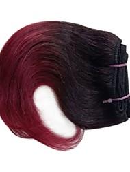 Недорогие -3 Связки Перуанские волосы Прямой 8A Натуральные волосы Омбре 8 дюймовый Вино Ткет человеческих волос Шерсть Расширения человеческих волос Все