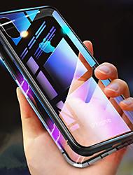Недорогие -Кейс для Назначение Apple iPhone XR / iPhone XS Max Защита от удара / Прозрачный / Магнитный Чехол Однотонный Твердый Закаленное стекло для iPhone XS / iPhone XR / iPhone XS Max