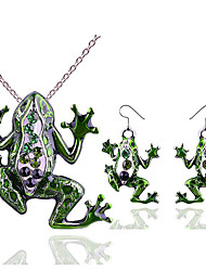 Недорогие -Жен. Цирконий Комплект ювелирных изделий - Животный принт Массивный, Стиль, модный Включают Серьги-слезки Ожерелья с подвесками Зеленый Назначение Подарок Праздники