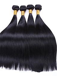 voordelige -4 bundels Indiaas haar Recht 8A Echt haar Menselijk haar weeft Bundle Hair Extentions van mensenhaar 8-28 inch(es) Natuurlijke Kleur Menselijk haar weeft Dames uitbreiding Beste kwaliteit Extensions