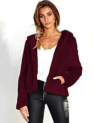 رخيصةأون -نسائي وردي بلاشيهغ البيج نبيذ M L XL جاكيت أساسي لون سادة