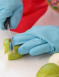 Недорогие -супер гибкая прочная латексная перчатка водонепроницаемая резиновая посуда для мытья посуды