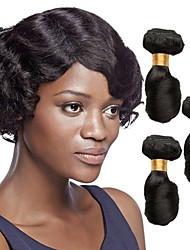 Недорогие -3 Связки Бразильские волосы Малазийские волосы Свободные волны 8A Натуральные волосы Необработанные натуральные волосы Подарки Косплей Костюмы Головные уборы 8-28 дюймовый Естественный цвет