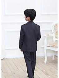 お買い得  -ブラック / グレー コットン/ポリエステル混紡 リングベアラースーツ - 1セット 含まれています ベスト
