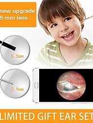 Недорогие -3,9 мм 3 в 1 шт. Версия hd визуальный ушной оральный эндоскоп 1500 мм - золото