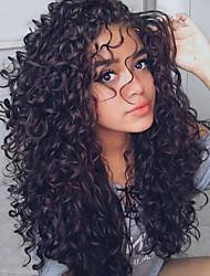 Недорогие -3 Связки Индийские волосы Волнистый Волнистые Необработанные натуральные волосы Человека ткет Волосы Уход за волосами Удлинитель 8-28 дюймовый Черный Естественный цвет Ткет человеческих волос / 8A