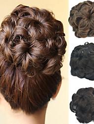 Недорогие -Свадебные прически шиньон бун цветок клип синтетические выдвижения волос culry больше цветов