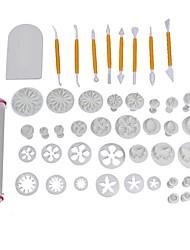 Недорогие -68 шт. / Компл. Помадка для украшения торта инструменты торт плесень набор кухня выпечки литья комплект sugarcraft изготовление цветов плесень