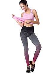 billige -Dame Sports Legging - Farveblok Medium Talje