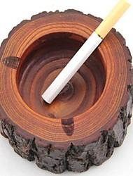 Недорогие -деревянная пепельница сигара дерево пень сигарета пепел лоток табак баррель мужской подарок