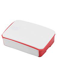 Недорогие -специальный шкаф для малины pi 3b поколения 2 abs материал 26 * 96 * 71 мм белый-красный