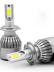 abordables -2pcs H9 / H7 / H3 Automatique Ampoules électriques 55 W COB 3800 lm 2 LED Lampe Frontale For Universel Universel Toutes les Années