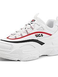 Недорогие -Муж. Комфортная обувь Кожа Зима Спортивные / На каждый день Кеды Нескользкий Белый / Черный / Хаки