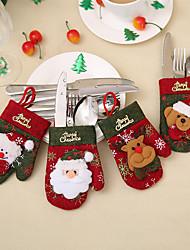 Недорогие -Праздничные украшения Рождественский декор Рождественские украшения Декоративная Образец 4шт