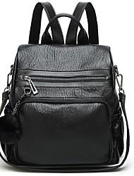 Недорогие -Универсальные Мешки PU рюкзак Молнии Сплошной цвет Черный / Хаки