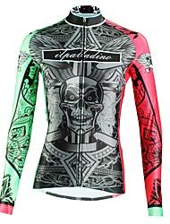 tanie -ILPALADINO Damskie Długi rękaw Koszulka rowerowa - Zielony Moda Rower Top Odporność na promieniowanie UV Sport Zima Elastyna Kolarstwo górskie Kolarstwie szosowym Odzież