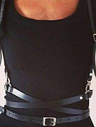 Недорогие -Пояс Steampunk Punk Rave Черный Сплошной цвет Мода Пояс Кожа PU Сплав костюмы
